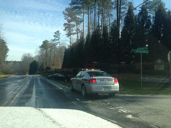 Frigid temperatures left slick spots along roadways across central North Carolina Tuesday morning, causing several accidents and traffic backups. <span class=meta>(Photo&#47;ABC11 iWitness viewer image)</span>