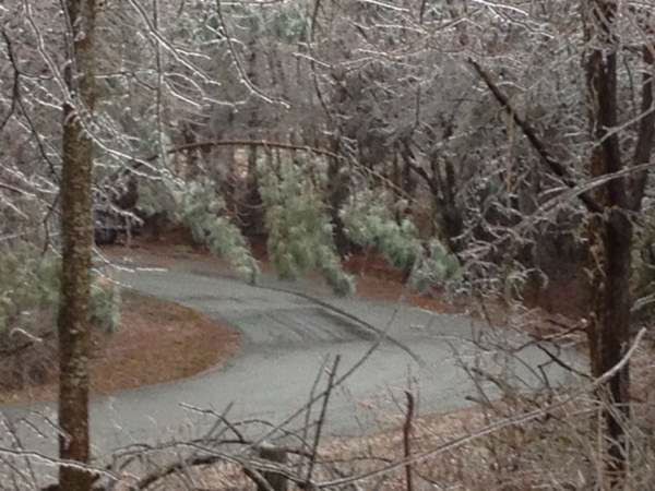 A blast of rain, sleet, and ice brought down trees and caused thousands of power outages across the region. Seeing damage where you are? Send your pictures to iwitness@abc11mail.com. <span class=meta>(Photo&#47;WTVD&#47;Jeff Hinkle)</span>