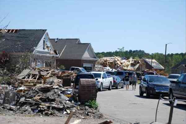 Summerchase Drive in Cumberland County tornado damage. Photos by ABC11 Photojournalist Fred Heggs <span class=meta>(Photo&#47;ABC11)</span>