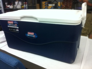 Deputies say this cooler was used to transport body parts to Texas. <span class=meta>(WTVD Photo\ Kelli O&#39;Hara)</span>