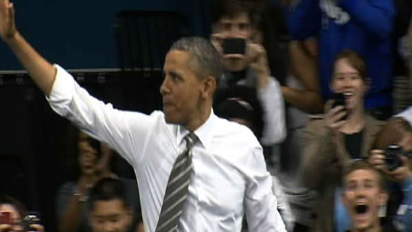 President Obama speaks at UNC <span class=meta>(WTVD Photo)</span>