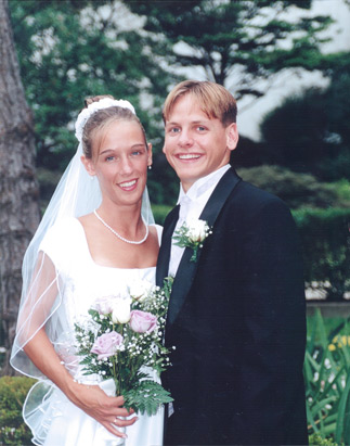 Janet and Raven Abaroa at their wedding <span class=meta>(ABC News)</span>