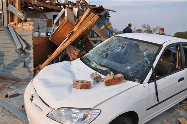 "<div class=""meta ""><span class=""caption-text "">Tornados Saturday wreaked incredible damage on homes and cars. (WTVD Photo/ uReport image sent in by ABC11 viewer)</span></div>"