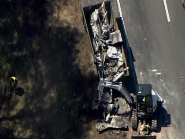 "<div class=""meta image-caption""><div class=""origin-logo origin-image ""><span></span></div><span class=""caption-text"">Truck carrying thousands of pounds of sugar caught on fire along I-95 North near exit 65 Tuesday. (Photo/Chopper11 HD)</span></div>"