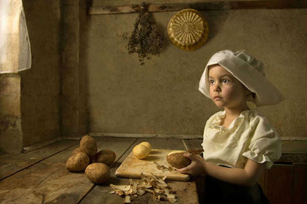 Photographer Bill Gekas recreates famous paintings by Old Masters like Vermeer, Rembrandt, and Raphael - but with his young daughter posing as the subject. The results are stunning &#40;and a little uncanny&#41;.  <span class=meta>(Bill Gekas&#47; http:&#47;&#47;www.billgekas.com)</span>