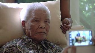 In this image taken from video, the ailing anti-apartheid icon Nelson Madela is filmed Monday April 29, 2013 (AP Photo/SABC TV)
