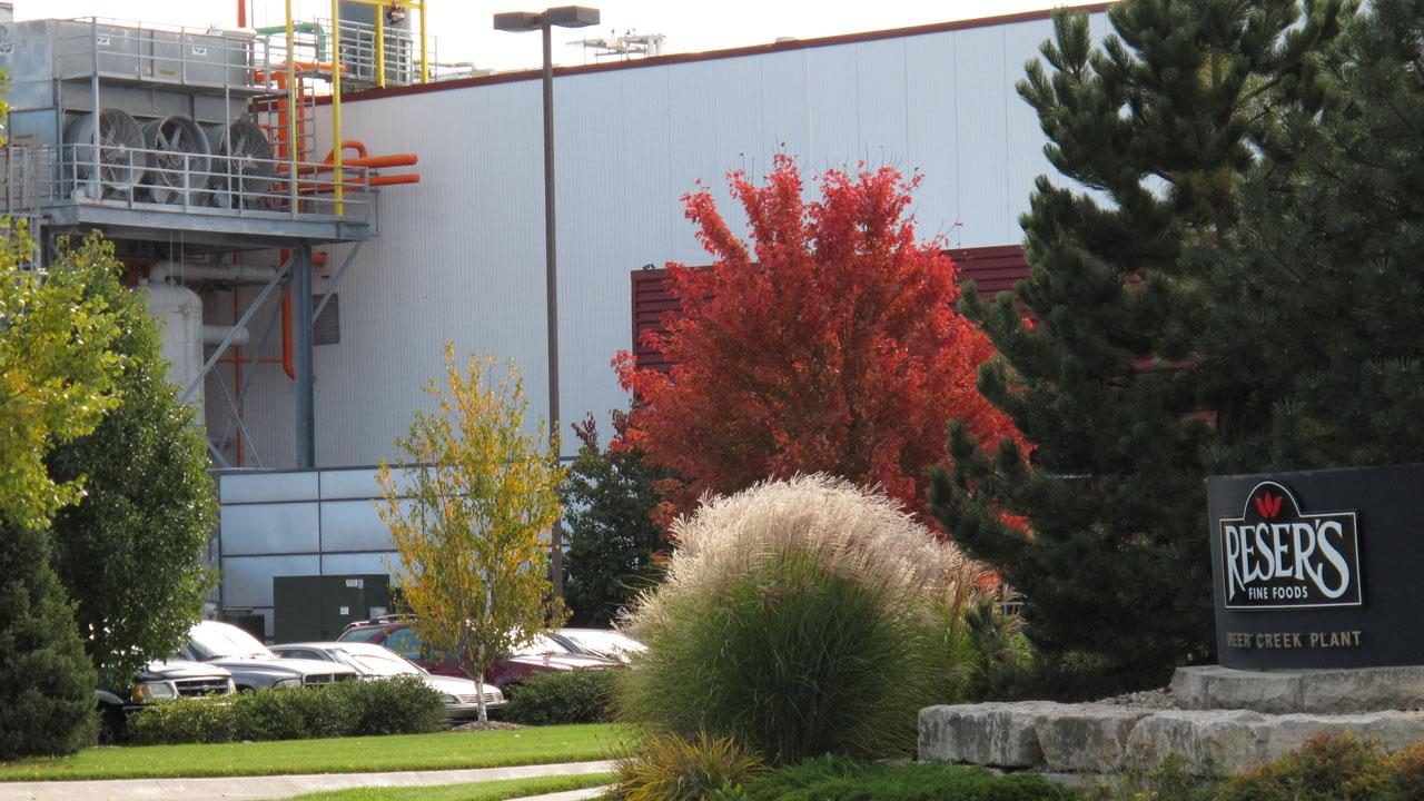 This photo from Thursday, Oct. 24, 2013, shows the Resers Fine Foods plant in east Topeka, Kan. The company has recalled 109,000 cases of packaged products from the plant because they may be contaminated with Listeria.