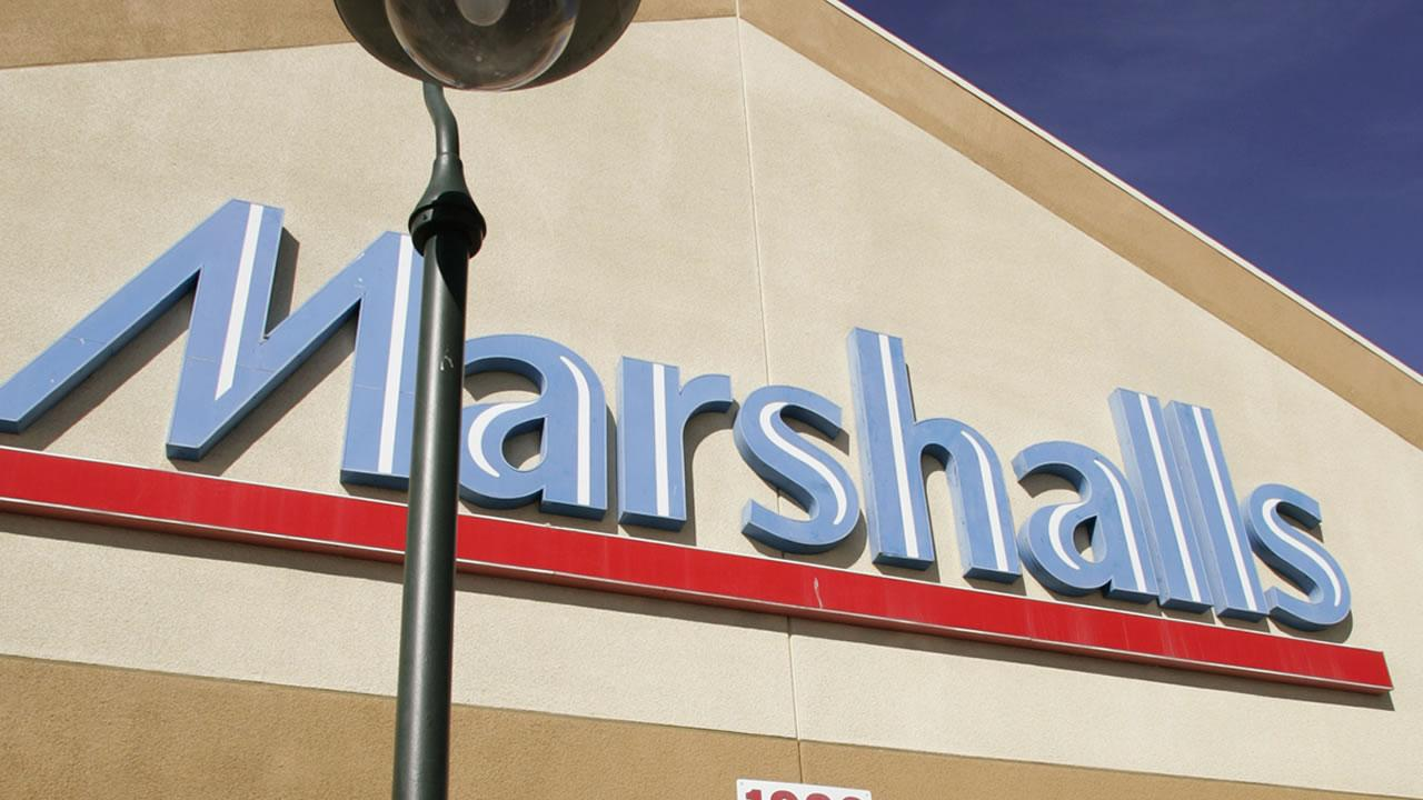 Exterior view of a Marshalls store in San Bruno, Calif., Tuesday, Nov. 15, 2005. <span class=meta>(Paul Sakuma)</span>