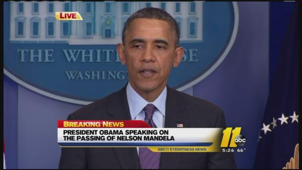 President Obama speaks about Mandela's death