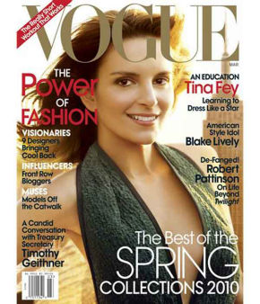 Tina Fey looks stunning on this Vogue cover, but her trademark scar on the left side of her face was Photoshopped out - angering many readers. <span class=meta>(AP Photo&#47;Vogue)</span>