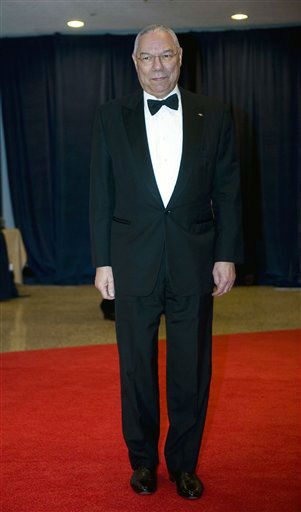 "<div class=""meta ""><span class=""caption-text "">Former Secretary of State Colin Powell arrives at the White House Correspondents' Association Dinner on Saturday, April 28, 2012 in Washington.  (AP Photo/Kevin Wolf)</span></div>"