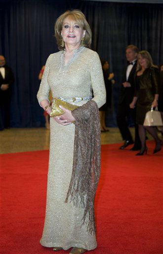 "<div class=""meta image-caption""><div class=""origin-logo origin-image ""><span></span></div><span class=""caption-text"">Barbara Walters arrives at the White House Correspondents' Association Dinner on Saturday, April 28, 2012 in Washington.  (AP Photo/Kevin Wolf)</span></div>"