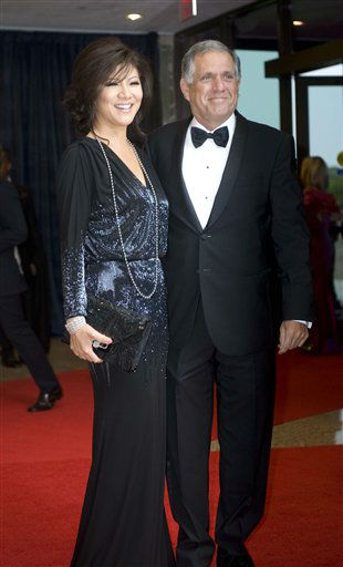 Julie Chen and her husband Leslie Moonves, right, arrive at the White House Correspondents' Association Dinner on Saturday, April 28, 2012, in Washington. (AP Photo/Kevin Wolf)