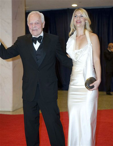 Bob Schieffer and actress Claire Danes arrive at the White House Correspondents' Association Dinner on Saturday, April 28, 2012 in Washington.  (AP Photo/Kevin Wolf)