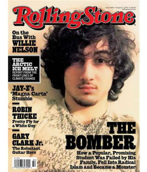 Boston Marathon bombing suspect Dzhokhar Tsarnaev appears on the cover of the Aug. 1, 2013 issue of &#34;Rolling Stone.&#34; Readers were incensed that he looked &#34;too handsome&#34;, like a rock star instead of a terrorism suspect. <span class=meta>(AP Photo&#47;Wenner Media)</span>