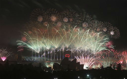Fireworks explode over Sydney Harbour bridge during the New Year celebrations in Sydney, Australia, Tuesday, Jan. 1, 2013. <span class=meta>(AP Photo&#47; Rob Griffith)</span>