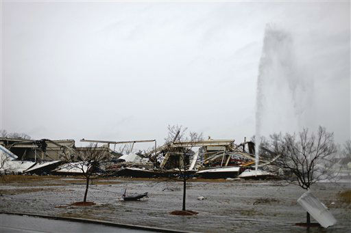 The aftermath of a tornado is seen at the Daiki plant, a metal fabrication company, Wednesday, Jan. 30, 2013, in Adairsville, Ga. A fierce storm system that roared across Georgia has left at least one person dead after it demolished buildings and flipped vehicles on Interstate 75 northwest of Atlanta. <span class=meta>(AP Photo&#47; David Goldman)</span>