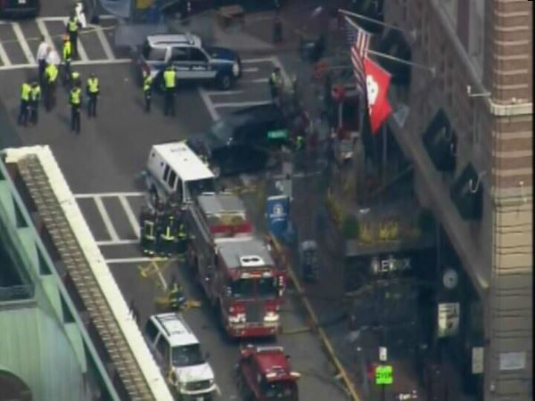Two explosions were reported at the Boston Marathon. <span class=meta>(WTVD Photo)</span>