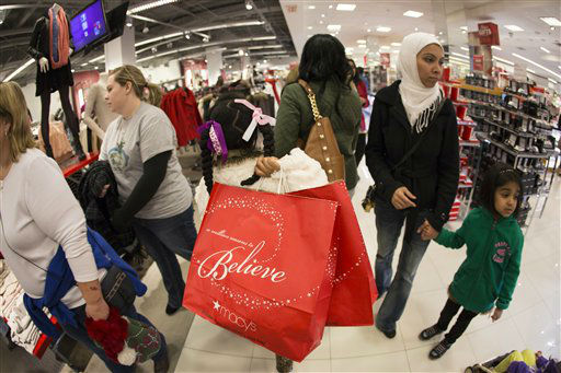 Shoppers stock up on Black Friday specials during the Macy&#39;s Lenox Black Friday store opening on Thursday, November 28, 2013 in Atlanta.  <span class=meta>(Photo&#47;Paul Abell&#47;AP Images for Macy&#39;s)</span>