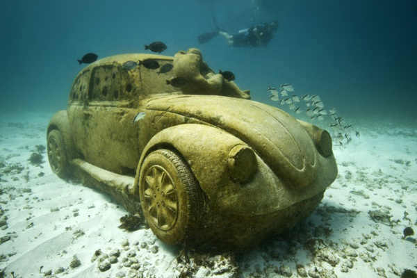 "<div class=""meta image-caption""><div class=""origin-logo origin-image ""><span></span></div><span class=""caption-text"">Jason deCaires Taylor combined 18 years of diving experience and a background in the arts to create a mesmerizing underwater sculpture garden off the coast of Grenada in the West Indies. The park, founded in 2006, is meant to show that human intervention can be ""both positive and life-encouraging."" These permanent public works serve as both an art installation and a habitat for sea creatures. Each sculpture has an oblique but thoughtful name meant to symbolize the relationship between man and nature. Sculpture pictured here: Anthropocene. (Jason deCaires Taylor/www.jasondecairestaylor.com)</span></div>"