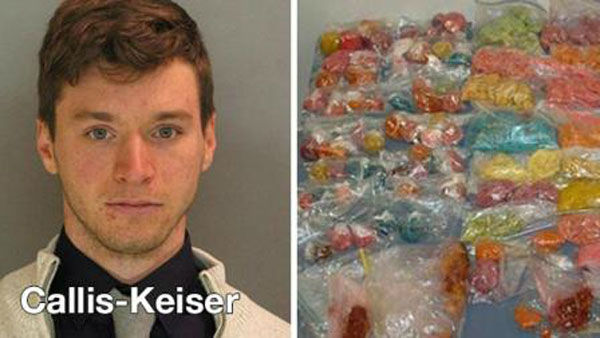 "<div class=""meta ""><span class=""caption-text "">I'm in for...a little too much Halloween fun  How it got him arrested: A lot of people have secret stashes of candy around Halloween, but not everyone's is laced with marijuana. A 25-year-old was recently charged when tests came back on 40 pounds of candy taken from his home in October.  Moral of the story: If you want to make something special for Halloween, stick to candied apples. (Photo/WPVI)</span></div>"