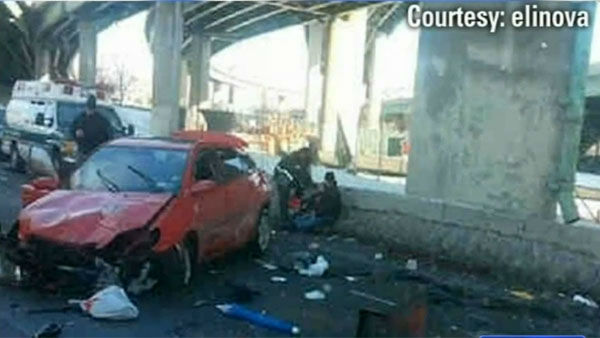 "<div class=""meta ""><span class=""caption-text "">     ""You don't have time to think. All you do is hold on to the steering wheel and hope for the best.""       Fortunately, Carlos Broadbelt and his wife Luz Cruz did get the best they could hope for after being catapulted off an elevated highway.  A slick patch of road guided the couple's car onto an unfortunately placed pile of ice, which acted as a ramp, sending them plummeting off the Bruckner Expressway onto a roadway 50 feet below. The car rolled several times and police had to pull them from the wreckage, but    neither had more than minor injuries.  (WABC/elinova)</span></div>"