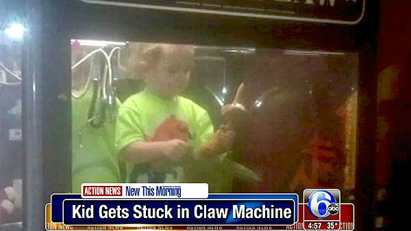 "<div class=""meta image-caption""><div class=""origin-logo origin-image ""><span></span></div><span class=""caption-text"">     Point A:     A 3-year-old goes missing from his home.          Point B:     He's found inside an arcade claw machine.       Can you imagine? You walk up to a game, trying to win a teddy bear, and realize there's a little kid just hanging out with the stuffed animals. Fortunately     the boy and his mother were quickly reunited.  (WPVI)</span></div>"