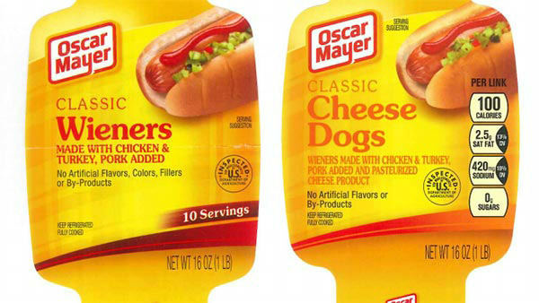 Point A:      A person&#39;s eating what they think is a normal Oscar Mayer wiener.       Point B:      Surprise! It&#39;s a cheese dog.   While we think it&#39;d be pretty awesome to find unexpected cheese inside a hot dog, people with food allergies would understandably not be thrilled. Kraft    recalled nearly 100,000 pounds after the mistake was called in.     Guess that means it&#39;s too late to buy some real mystery meat.  <span class=meta>(WPVI)</span>