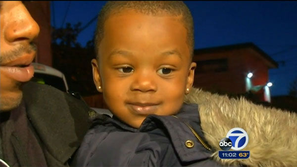 &#34;That&#39;s a high drop. I was hysterical just picturing it.&#34;       A 3-year-old&#39;s mother was in shock at her son&#39;s dramatic escape from a house fire.       Little Maurice Muccular was asleep at his grandmother&#39;s apartment when the family was awoken by a fire engulfing the building. The adults &#40;Maurice&#39;s     great-aunt, grandmother and her husband&#41; realized that the only way out was through a second-story window. They agreed that figuring out a way to save Maurice was the most important thing. After his great-aunt made the jump,    Maurice was thrown from the window into her arms. The other adults broke some bones, but everyone     survived.  <span class=meta>(KGO)</span>