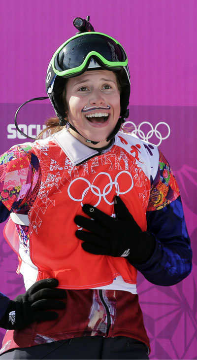 15. If all else fails, show off your sense of humor. Czech Eva Samkova after winning gold in snowboard cross  <span class=meta>(Photo&#47;Andy Wong)</span>