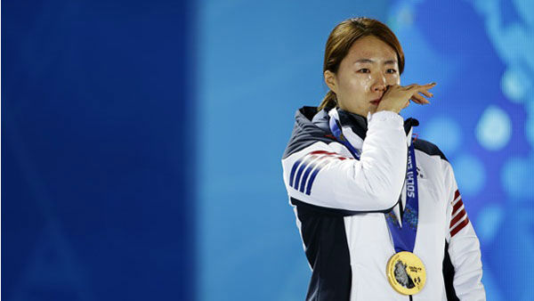 "<div class=""meta ""><span class=""caption-text "">5. And then there are the happy tears. So many happy tears. Women's 500-meter speedskating gold medalist Lee Sang-hwa of South Korea during the medals ceremony  (Photo/David Goldman)</span></div>"
