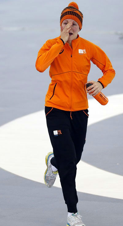 5. And then there are the happy tears. So many happy tears. Gold medallist Jorien ter Mors of the Netherlands after the women&#39;s 1,500-meter speedskating race  <span class=meta>(Photo&#47;Pavel Golovkin)</span>