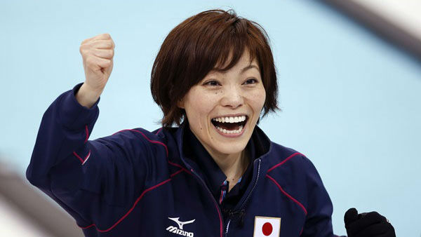 3. You could go with a simple fist pump. Japan&#39;s Ayumi Ogasawara after her final throw to beat China in the women&#39;s curling competition, which is ongoing  <span class=meta>(Photo&#47;Robert F. Bukaty)</span>