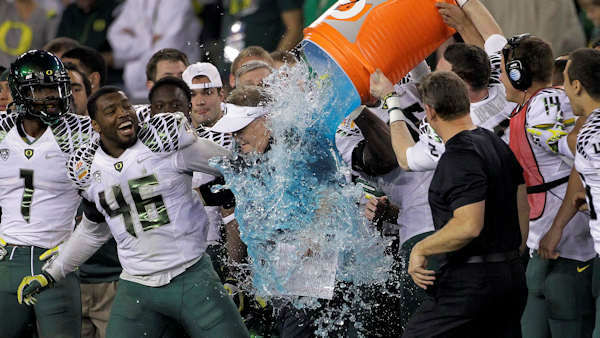 "<div class=""meta ""><span class=""caption-text ""> There are so many post-game traditions that people just assume I know about, so I don't ask. What's with the Gatorade? Did that start with the Super Bowl?  The stunt of showering the coach with a cooler of Gatorade after a big win goes back to the '80s and is often credited to the Giants' Jim Burt, who doused head coach Bill Parcells after a midseason victory during a tough year. The tradition has bled over into other sports a little, but it's still largely associated with football, especially the NFL. Gatorade's marketing team, who didn't cook up the tradition, were huge fans of the publicity. (Photo/WPVI)</span></div>"