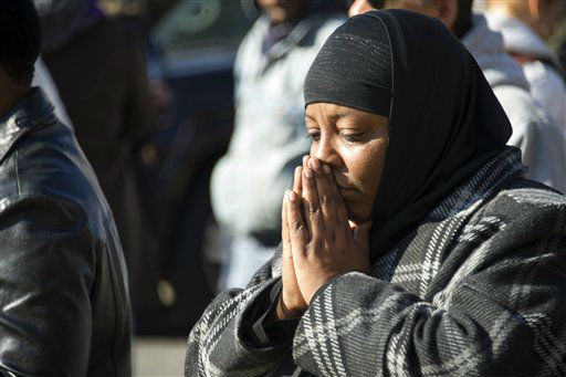 "<div class=""meta ""><span class=""caption-text "">A fan prays near the funeral services for Whitney Houston at the New Hope Baptist Church in Newark, N.J., Saturday, Feb. 18, 2012.  (AP Photo/ Charles Sykes)</span></div>"