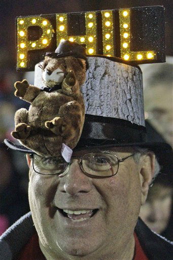 Fred Unger of York, Pa., waits in the early morning of Feb. 2, 2012 on Gobbler&#39;s Knob for weather prognosticating groundhog Punxsutawney Phil to appear, during the 126th celebration of Groundhog Day in Punxsutawney, Pa. <span class=meta>(AP Photo&#47; Gene J. Puskar)</span>