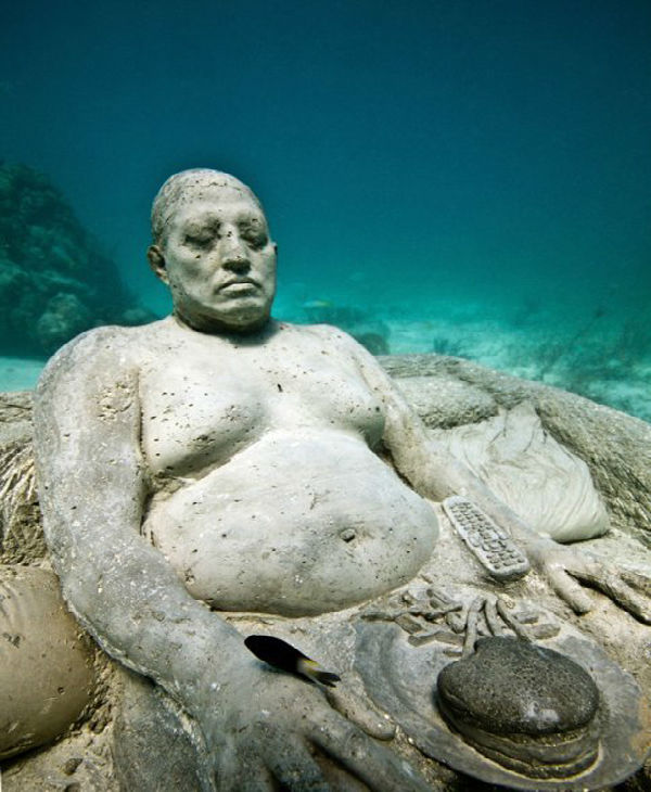 "<div class=""meta image-caption""><div class=""origin-logo origin-image ""><span></span></div><span class=""caption-text"">Jason deCaires Taylor combined 18 years of diving experience and a background in the arts to create a mesmerizing underwater sculpture garden off the coast of Grenada in the West Indies. The park, founded in 2006, is meant to show that human intervention can be ""both positive and life-encouraging."" These permanent public works serve as both an art installation and a habitat for sea creatures. Each sculpture has an oblique but thoughtful name meant to symbolize the relationship between man and nature. Sculpture pictured here: Inertia. (Jason deCaires Taylor/www.jasondecairestaylor.com)</span></div>"