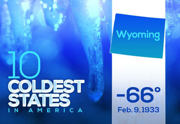 3. Wyoming  The few Wyoming residents who remember the only time the temperature hit 66 below could consider it &#34;the day Hell froze over.&#34;    This year&#39;s low: -24  <span class=meta>(Photo&#47;WTVD)</span>