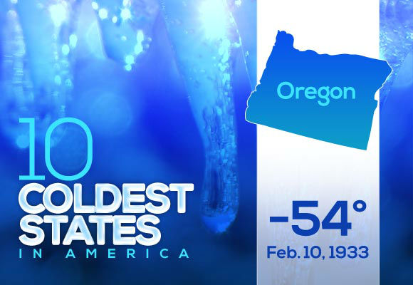 10. Oregon  Oregon is tied with Wyoming for the oldest date on the top ten list. 1933 was not a fun year for the northwest part of the country. If you lived through this, your &#34;In my day&#34; stories are perfectly justified.  This year&#39;s low: 1 If your state didn&#39;t make the cut, find it on our full list, along with this year&#39;s lows. <span class=meta>(Photo&#47;WTVD)</span>