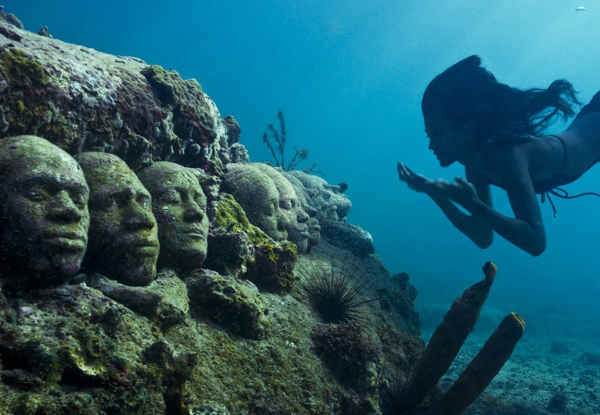 "<div class=""meta image-caption""><div class=""origin-logo origin-image ""><span></span></div><span class=""caption-text"">Jason deCaires Taylor combined 18 years of diving experience and a background in the arts to create a mesmerizing underwater sculpture garden off the coast of Grenada in the West Indies. The park, founded in 2006, is meant to show that human intervention can be ""both positive and life-encouraging."" These permanent public works serve as both an art installation and a habitat for sea creatures. Each sculpture has an oblique but thoughtful name meant to symbolize the relationship between man and nature. Sculpture pictured here: Tamcc. (Jason deCaires Taylor/www.jasondecairestaylor.com)</span></div>"
