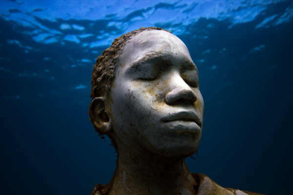 "<div class=""meta image-caption""><div class=""origin-logo origin-image ""><span></span></div><span class=""caption-text"">Jason deCaires Taylor combined 18 years of diving experience and a background in the arts to create a mesmerizing underwater sculpture garden off the coast of Grenada in the West Indies. The park, founded in 2006, is meant to show that human intervention can be ""both positive and life-encouraging."" These permanent public works serve as both an art installation and a habitat for sea creatures. Each sculpture has an oblique but thoughtful name meant to symbolize the relationship between man and nature. Sculpture pictured here: Vicissitudes. (Jason deCaires Taylor/www.jasondecairestaylor.com)</span></div>"