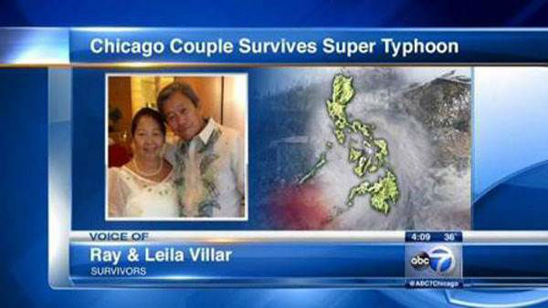 "<div class=""meta ""><span class=""caption-text "">Chicago couple Ray and Leila Villar were in the Philippines when the deadly super typhoon struck in November. Their house — the only one in the barrio not destroyed by vicious winds — became a refuge for other people as they waited for the storm to pass. Instead of returning home as soon as possible, the Villars stayed on to help other typhoon victims, becoming a source of comfort in hard times.  Next up: Not your typical wedding venue (Photo/WLS)</span></div>"