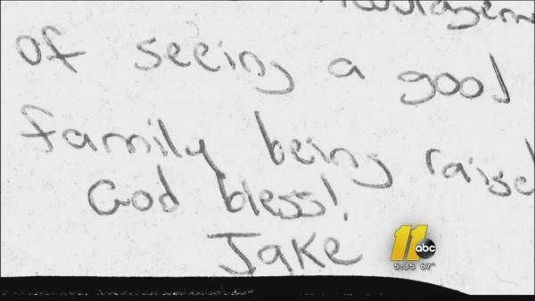 A single mother was stunned when a night out with two restless children led to an unexpected act of kindness at Pizza Hut. As her son&#39;s ADHD medication wore off and her children grew more disruptive, she apologized to a young man seated nearby. The young man in return left an encouraging note for the single mother, paid the family&#39;s bill and gave them a Pizza Hut gift card.  Next up: The Starbucks card that keeps on giving <span class=meta>(Photo&#47;WTVD)</span>