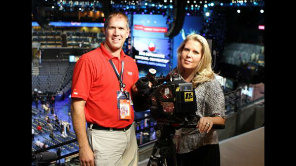 Photojournalist Jim Schumacher and News Operations Manager Elizabeth Plyler at the DNC <span class=meta>(ABC11 Photojournalist Jim Schumacher)</span>