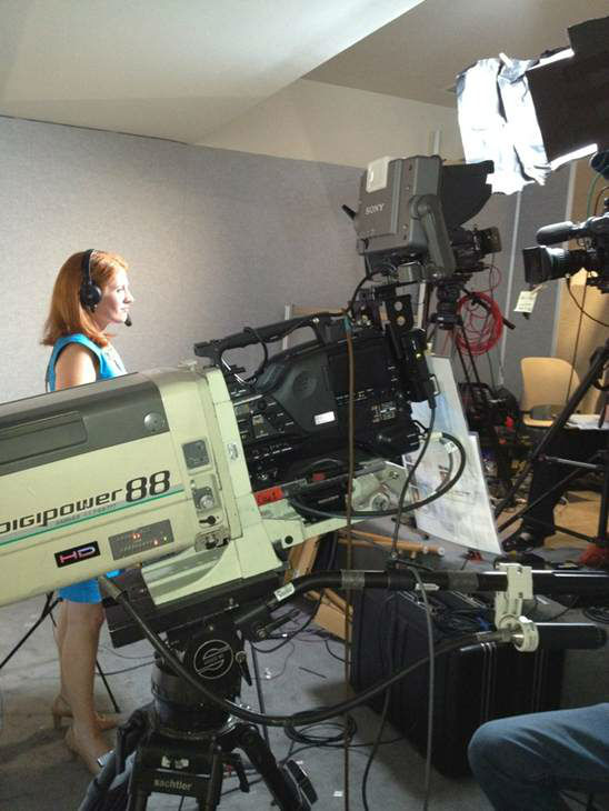 Karen Travers gets ready to go live. <span class=meta>(Photo&#47;WTVD Photo)</span>