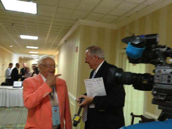 This man from Rocky Mount is the oldest delegate from North Carolina at 91! <span class=meta>(WTVD Photo)</span>