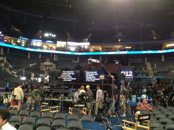 Behind the scenes at the Today show at the DNC. <span class=meta>(WTVD Photo)</span>