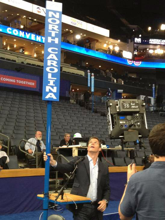 Bill Hemmer has a thing for NC. <span class=meta>(WTVD Photo)</span>
