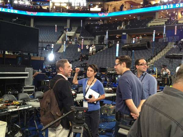 ABC News Political Director @amyewalter talking with @rickklein and others about #dnc2012 coverage. <span class=meta>(WTVD Photo)</span>
