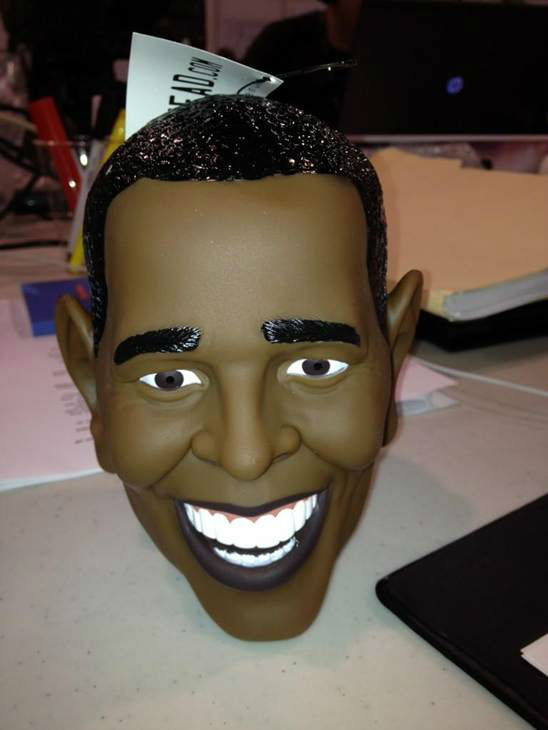 Check out this President Obama trailer hitch cover. <span class=meta>(WTVD Photo)</span>